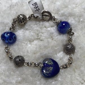 Jewelry - Sterling Silver with Glass Beads Bracelet